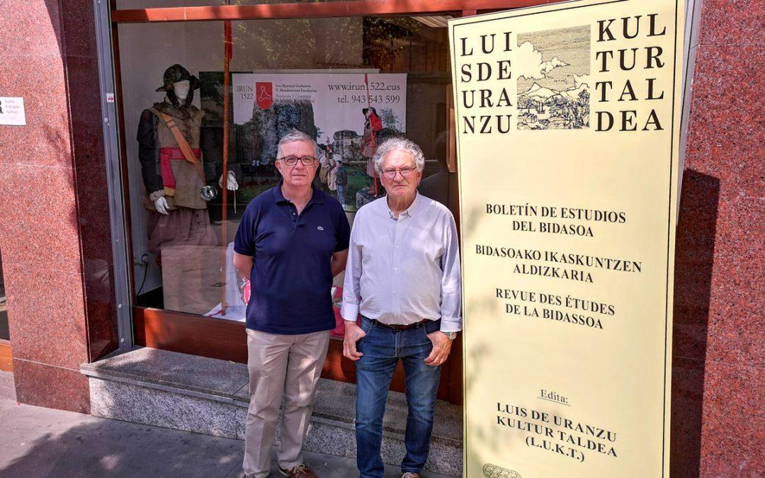 Irun 1522 y Luis de Uranzu Kultur Taldea  firman un convenio de colaboración