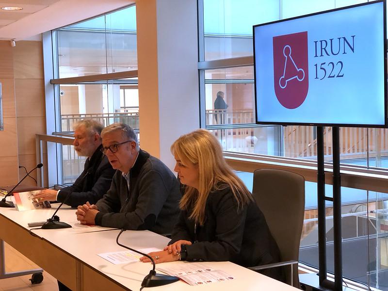 Irun1522 en FICOBA presentación jornadas de historia y salud